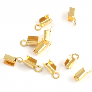 Embout de lacet JLB - Or - 10 x 4 mm