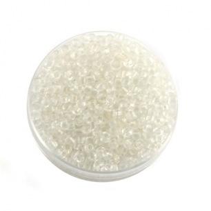 Perle de rocaille blanc transparent