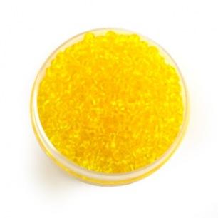 Perle de rocaille jaune transparent