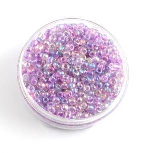 Perle de rocaille irisé mauve