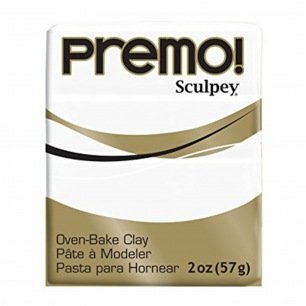 Pâte polymère Sculpey Premo - 57 g - Blanc