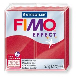 Fimo Effect 56 g rouge rubis métallisé