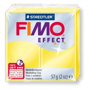 Fimo Effect 56 g transparent jaune