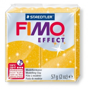 Fimo Effect 56 g glitter or