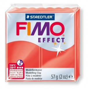 Fimo Effect 56 g transparent rouge