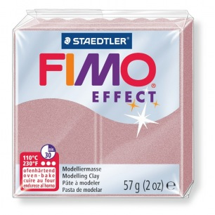 Fimo Effect 56 g perle or rosé