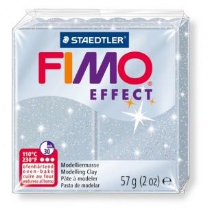Fimo Effect 56 g glitter argent