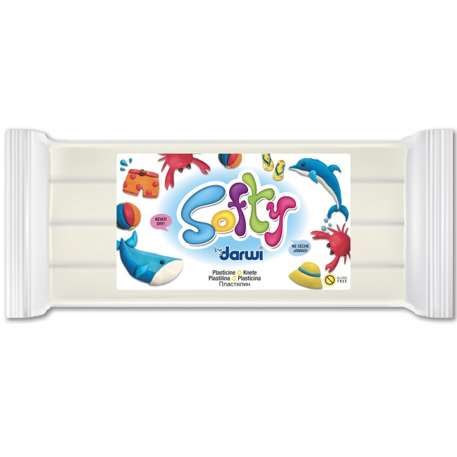Pâte à modeler Softy 500 g blanc