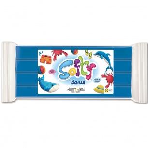 Pâte à modeler Softy 500 g bleu