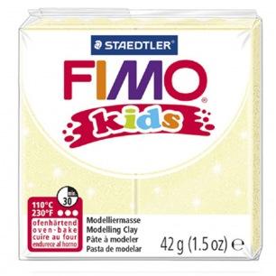 Fimo KIDS Glitter Jaune clair