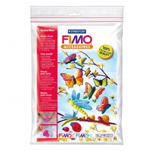 Moule flexible large Fimo - Papillon