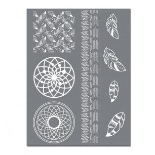 Pochoirs Silk Screen - Graine Créative 114x153 mm