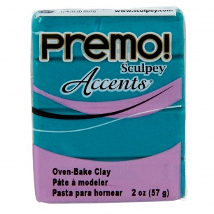 Sculpey Premo Accents Perle Vert Paon