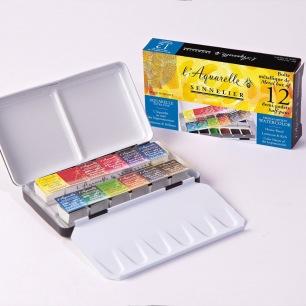 Boîte et coffret aquarelle Sennelier