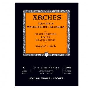 Bloc collé 1 côté 300g/m²- grain torchon - Arches