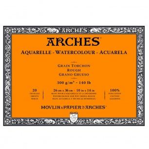 Bloc 4 côté collé - 300g/m²- grain torchon - Arches