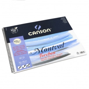 Album spirales Canson® Montval - 270gr/m² - Grain torchon