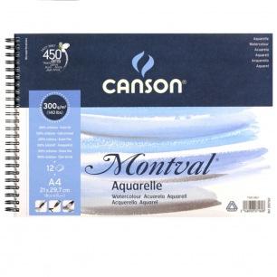 Album spirales Canson® Montval - 300gr/m² - Grain fin