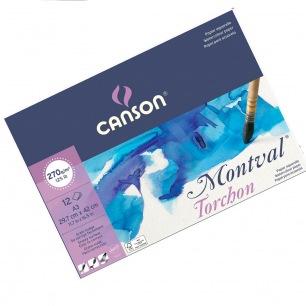 Bloc Canson® Montval - 270gr/m² - Grain TORCHON- Petit côté collé