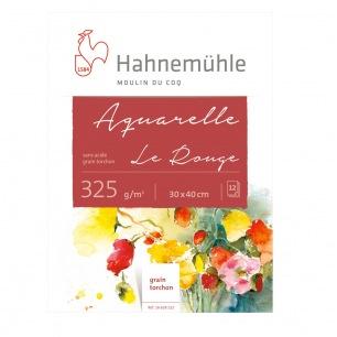 """Bloc Hahnemühle® """"Le rouge"""" - 325 gr/m² - collés 4 côtés - Grain fin"""