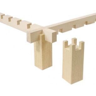 4 blocs en bois pour cadre à encoche ou à glissière