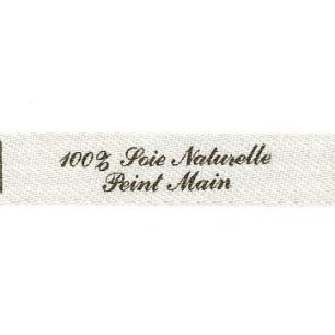 Etiquette à coudre - 100% Soie Naturelle Peint Main