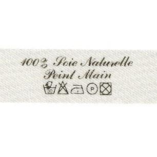 Etiquette à coudre - 100% Soie Naturelle Peint Main + Symboles