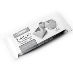 Pâte à modeler autodurcissante Darwi 1000 gBéton (gris)
