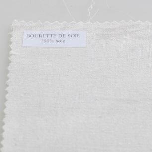 Tissu de Soie Ecru Bourrette - Au mètre